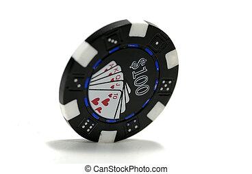 100 Dollar Poker Chip