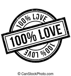 100 percent love rubber stamp