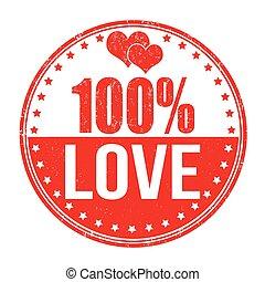 100 percent love stamp