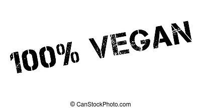 100 percent vegan rubber stamp