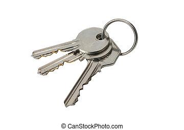 3 keys on white back-ground