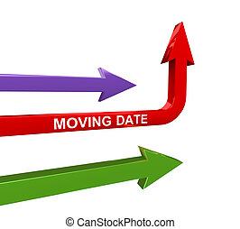 3d arrow of changing date