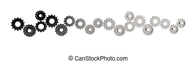 3d cog gear to success as concep