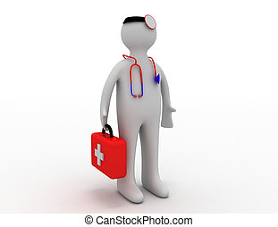 3d doctor concept