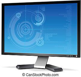 3D Flat Plasma LCD Computer Monitor