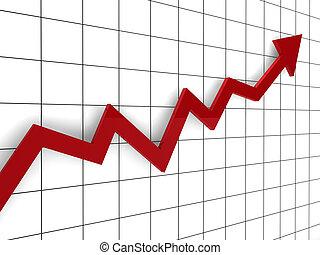 3d graph arrow red