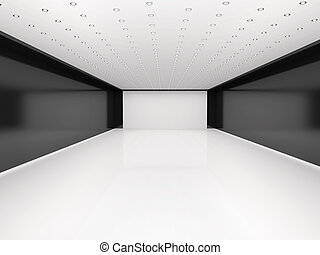 3d illustration of abstract empty room