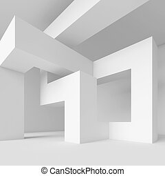 3d Illustration of White Abstract Architecture Wallpaper
