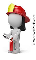 3d person - fireman
