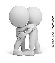 3d person - friendly hug