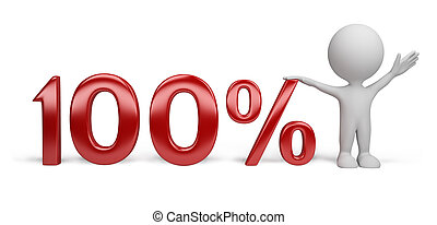 3d person - percent