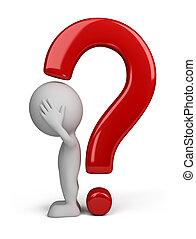 3d person - question mark