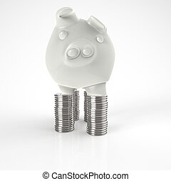 3d piggy bank as concept