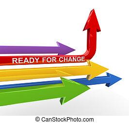 3d ready for change arrow