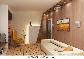 3D render interior