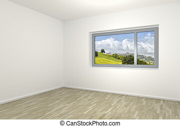 empty room with a window