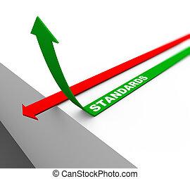 3d rising standards arrow