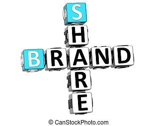 3D Share Brand Crossword cube words