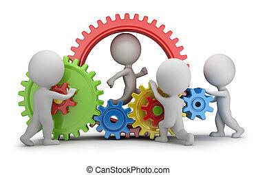 3d small people - team mechanism