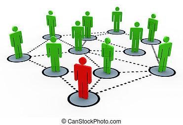 3d render of social network concept