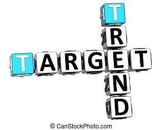 3D Trend Target Crossword cube words