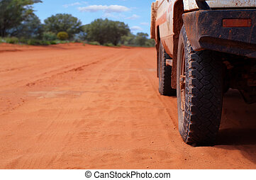 4WD on Sandy Outback Track