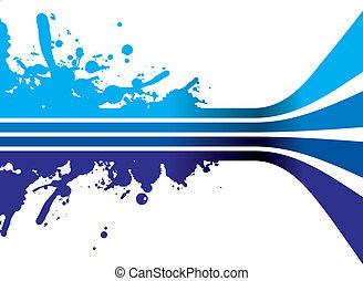 a blue splash background