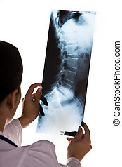 Doctor in the hospital with X-ray