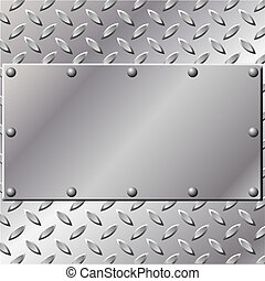 A Metal Background with Tread and Rivets