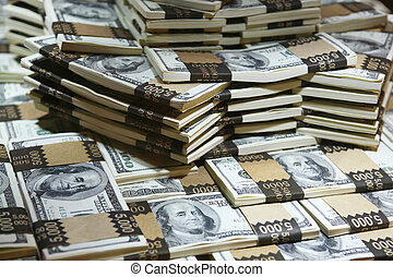 a lot of money - a million US dollars in cash (real money)