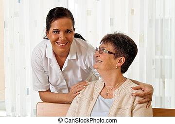nurse in elderly care for the elderly