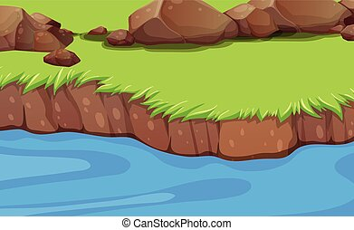 A river bank background