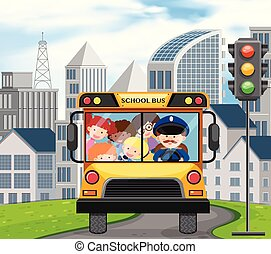 A School Bus Full of Children