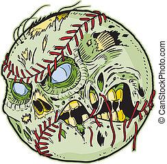 Zombie Baseball Vector Cartoon
