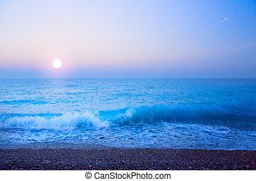 abstract art beautiful light sea summer background