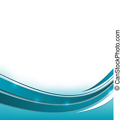 Abstract blue brochure
