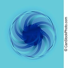 Abstract blue flower