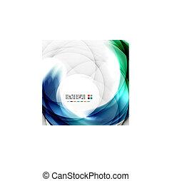 Abstract blue swirl design