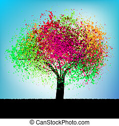 Abstract colorful concept tree. EPS 8