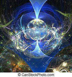 abstract fantasy world