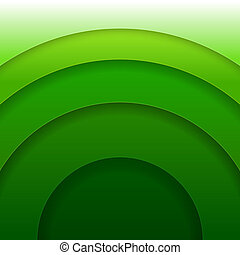 Abstract green paper circles vector background