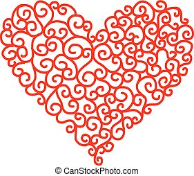 Abstract heart shape for your design