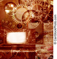 abstract industrial engineering background