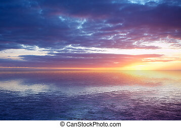 abstract ocean and sunset