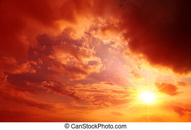 abstract summers background, red sunset