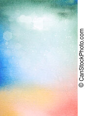 Abstract textured background: green, blue, yellow, and red patterns