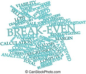 Abstract word cloud for Break-even with related tags and terms