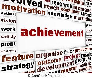 Achievement conceptual poster