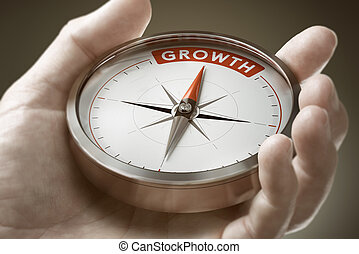 Achieving a Growth Mindset in Business. Economics Concept.