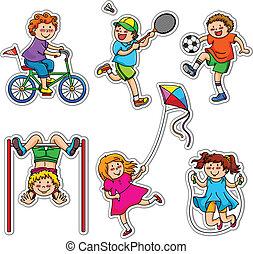 Kids doing physical activities through play